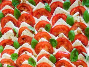 Mozarella-Tomaten-Platte